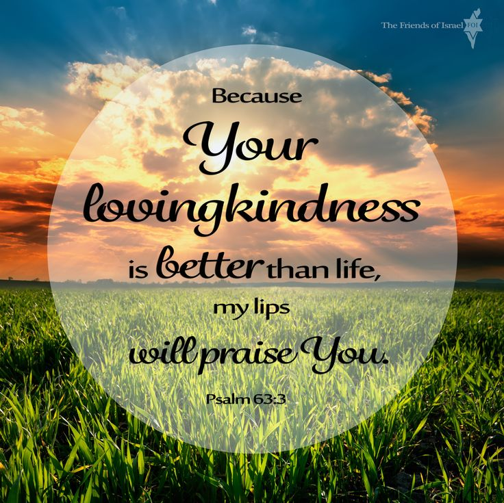 Psalm 63:3 Because Your lovingkindness is better than life ...