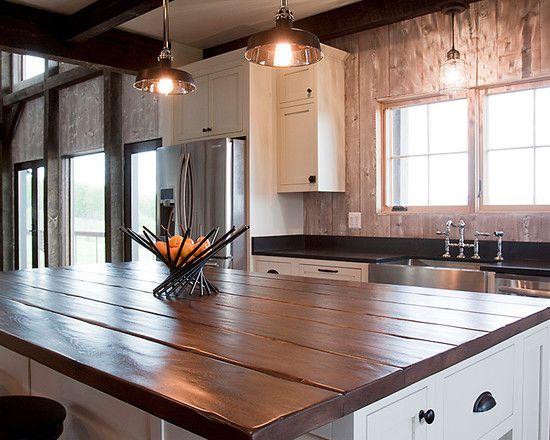 tops -Reclaimed-Wood-Kitchen-Islands-Plank-Reclaimed-Oak-Kitchen ...