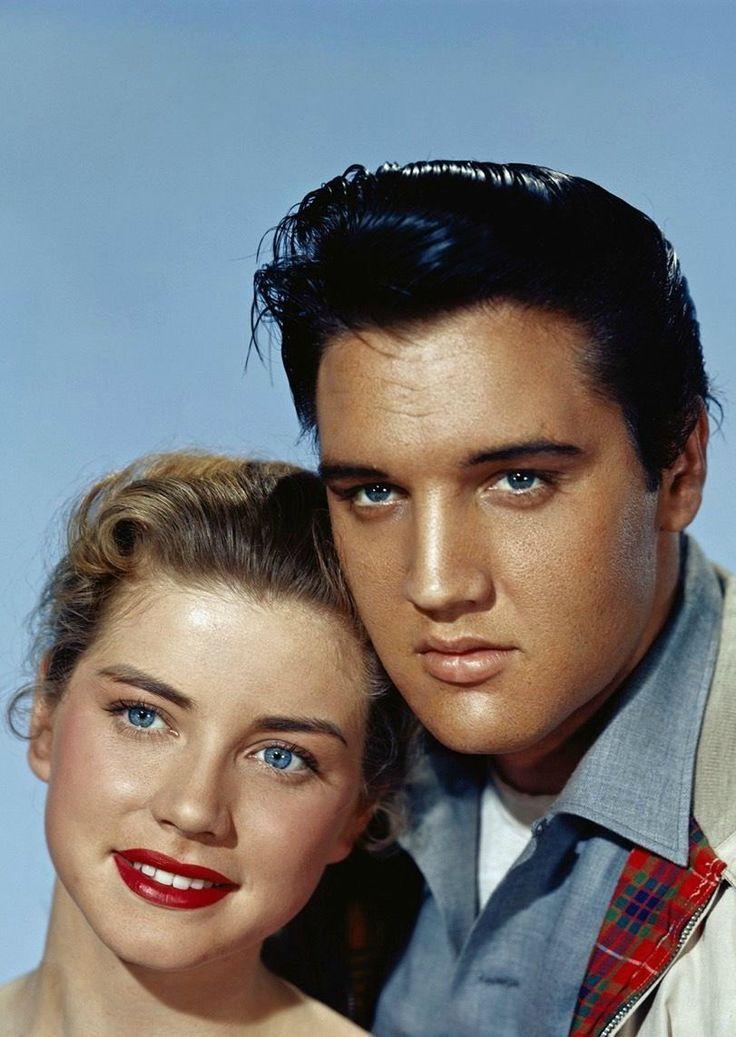 "Source: ladydeatha7x.tumblr.com Source: goldenageestate.tumblr.com "" Dolores Hart & Elvis Presley ~ King Creole, 1958"""