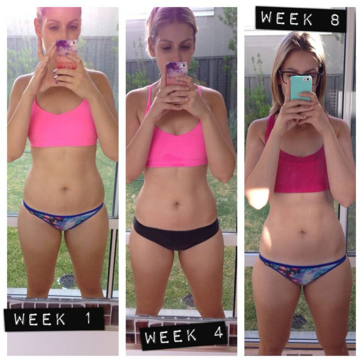 eight week weight loss