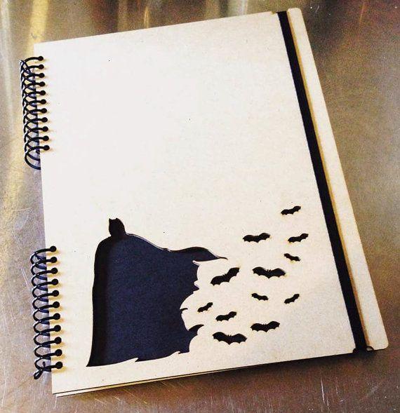 Notebook, Batman, College Ruled Notebook, Handmade notebook, Sketchbook, wood notebook, school college supplies, spiral notebook, one subject