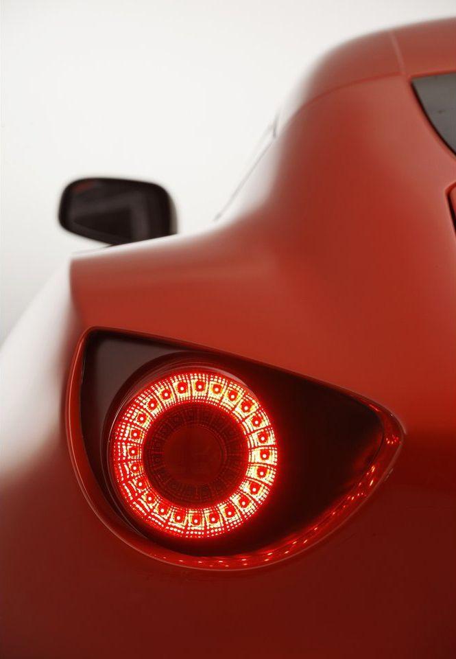 Aston Martin Car Circle Light Matte Part Line Red Sport Transport
