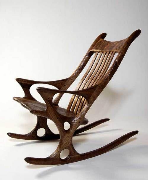 Derek Hennigar, wooden rocking chair