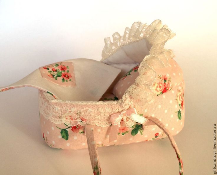Купить Переноска для пупсика или коллекционного мини реборна - кремовый, колыбелька, переноска, кроватка для куклы