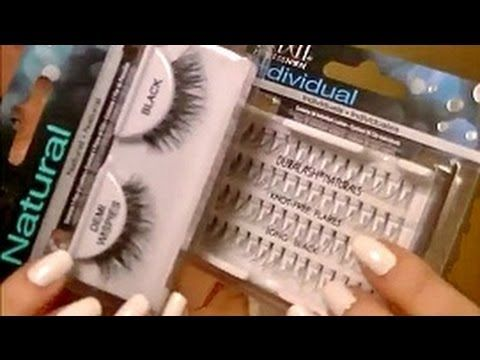 Easiest way to apply false eye lashes! Individual AND strip lashes! Video Tutorial.