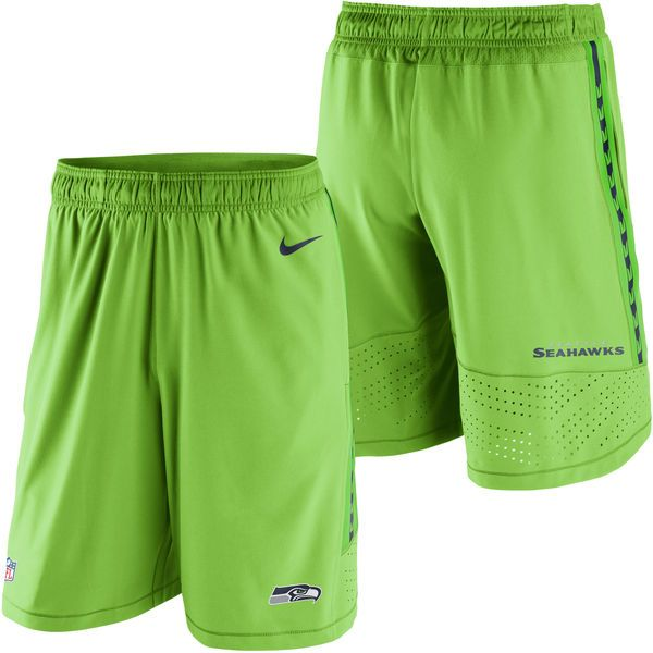 Seattle Seahawks Nike Speed Vent Performance Shorts - Neon Green - $74.99