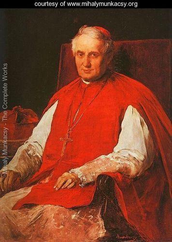 Portrait of Cardinal Lajos Haynald (Haynald Lajos arckepe)  1884 - Mihaly Munkacsy - www.mihalymunkacsy.org