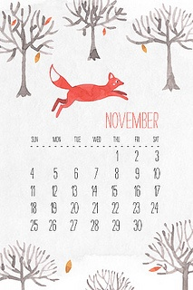 iPhone November calendar by oanabefort, via Flickr