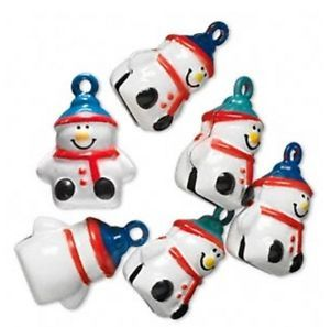 Jingle Bells Snowman Jewelry Charms Craft Christmas Holiday Lot of 6 | eBay