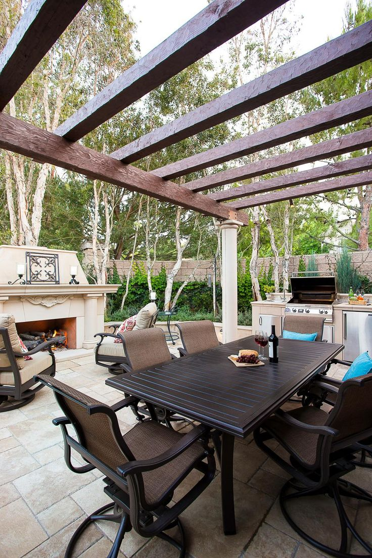 Southwestern Pergola and Dining Area