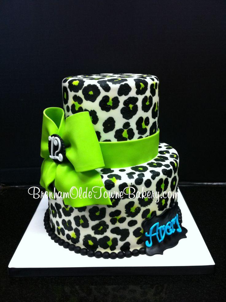 31 best Animal Print Cakes images on Pinterest Leopard cake