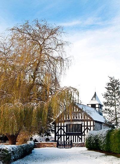Black & White Church ~ Melverley, Shropshire by Sheila Laurens