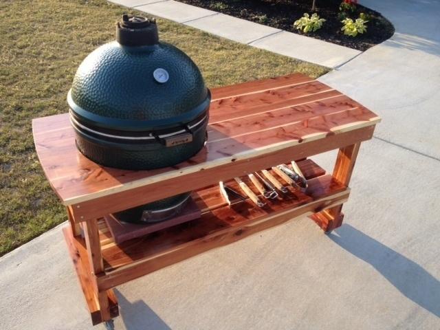 Big Green Egg Table (Red Cedar)
