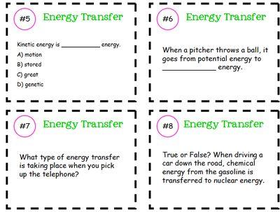 energy transfer task cards from klarenays shop on 6 pages task cards. Black Bedroom Furniture Sets. Home Design Ideas