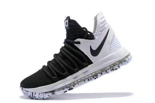 c8794a7ad How To Buy Nike Zoom KD X 10 Black White 2018 Mens Basketball Shoes  897815-008 Nike KD 10 On Sale