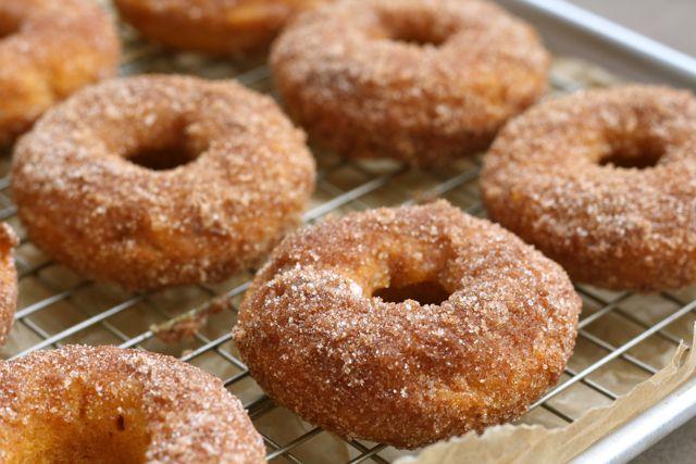 Baked Pumpkin Donuts via http://abitchinkitchen.blogspot.com/