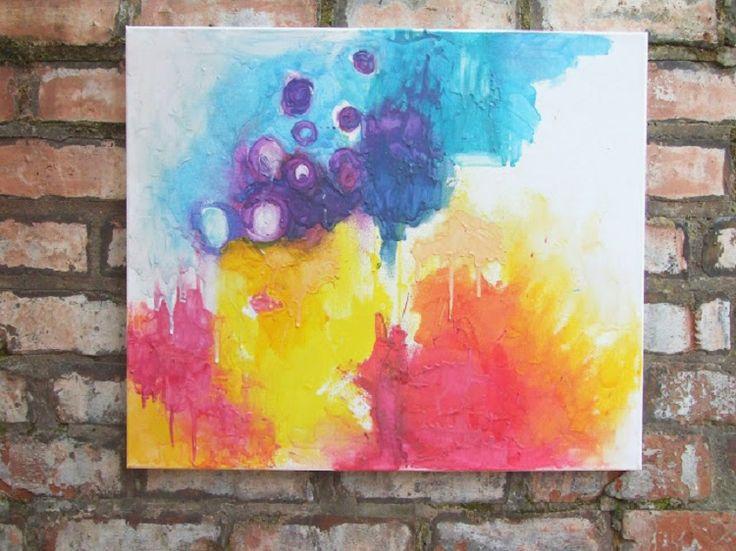 Schilderen-met-gesmolten-kleurpotloden