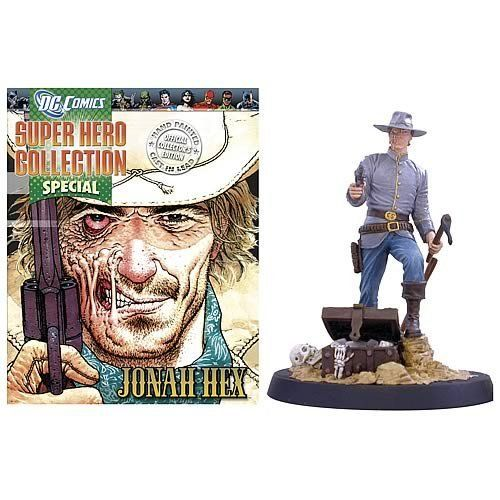 DC Jonah Hex Collector Magazine with Figure by EAGLEMOSS PUBLICATIONS LTD. $19.88.  Jonah Hex lead figure and collector magazine! The meanest gunslinger in the DC universe! 	  Add this Jonah Hex figure and magazine to your bounty! 	  This Jonah Hex figure is cast in lead, individually hand-painted and numbered to form an authentic collector's edition.. The Jonah Hex lead figure comes with a 20-page magazine providing detailed history and background of Jonah Hex, in...