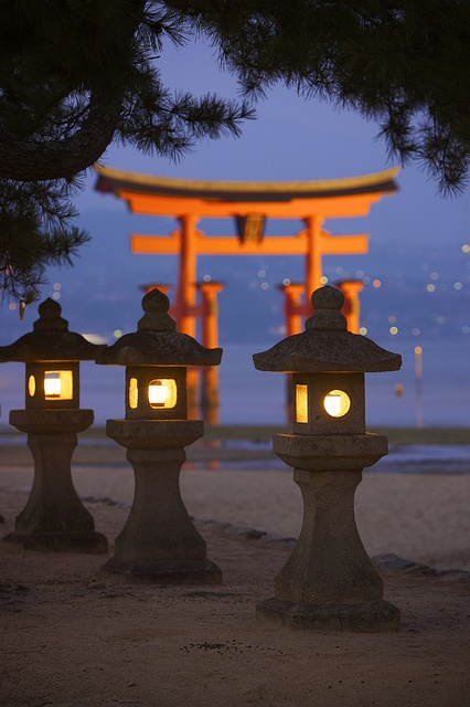 I have a beautiful pic of my Sis, Jacob, and I sitting in front of this.  Itsukushima shrine, Japan
