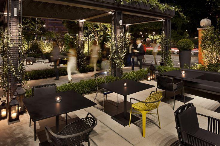 ME Milan - Il Duca, #Milano #Italy - Entrance terrace by night #luxurytravel