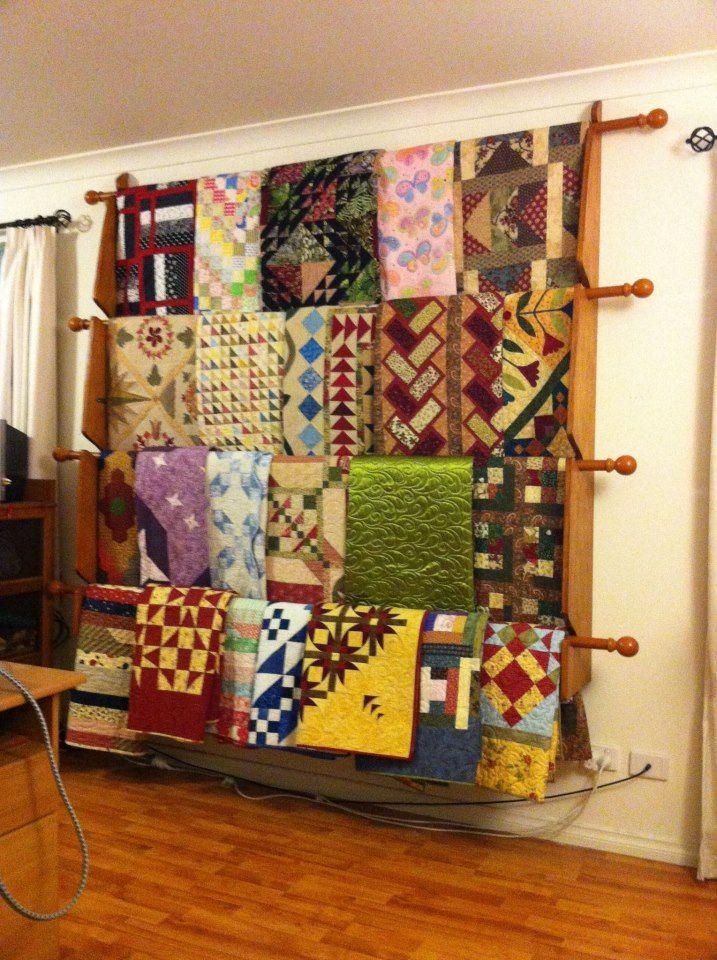 34 Best Quilt Ladder Images On Pinterest Quilt Racks Quilt Storage And Storing Blankets