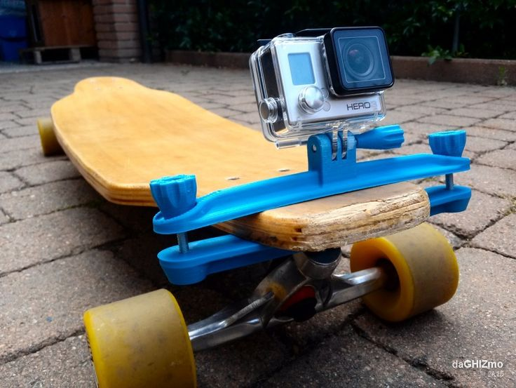 Longboard clamp for GoPro camera by daGHIZmo.