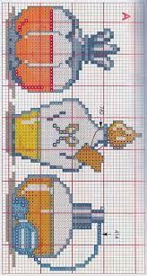 Risultati immagini per punto croce monocolore bagno