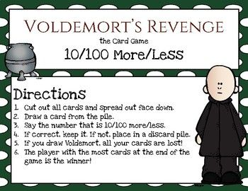 Harry Potter Themed Classroom - Place Value Card Game Pack - Voldemort's Revenge