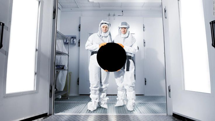 Touted as the darkest man-made substance in the world, Vantablack is so uncomfortably black the human eye can't quite decipher what it is seeing.