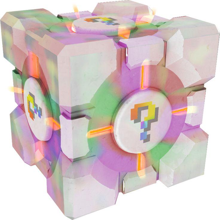 Shiny Companion Cube by shinybulblax on DeviantArt