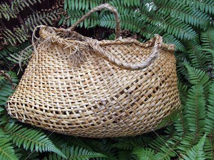 Old favourite... kete kai amongst NZ native fern