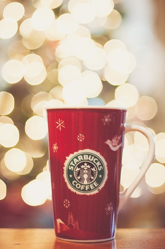 obligatory coffee cup with bokeh shot