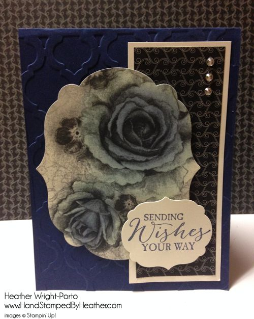 Hand Stamped By Heather, Heather Wright-Porto, Stampin' Up! Demonstrator: Happy Stampers Color Combo Challenge
