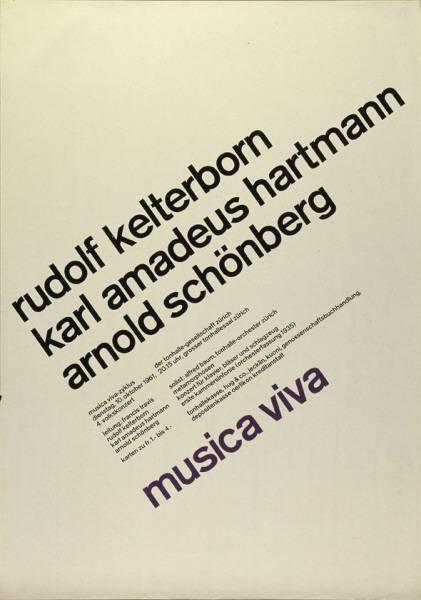Musica Viva 1961 – Josef Müller-Brockmann