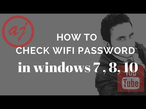 How to check Wifi Password in window 7, 8  and 10