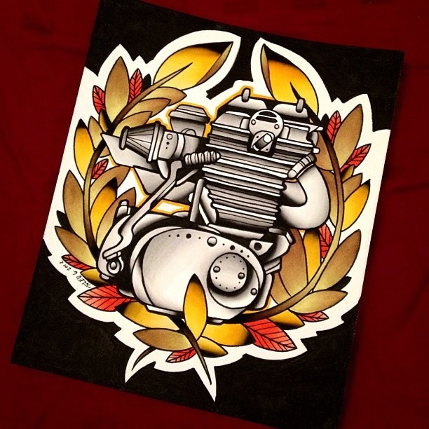 Small Engine Tattoo: 131 Best Tattoo Flash Images On Pinterest