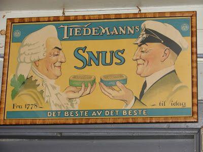 Reklame Tiedemanns snus