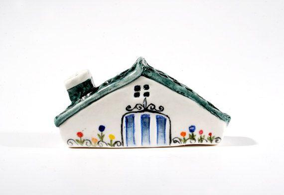 Handmade & painted miniature house No12 by SylviaInDaHouse on Etsy, $30.00