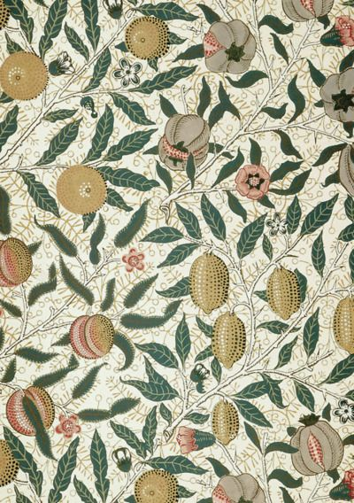 birdsong27:  William Morris - Fruit wallpaper (detail)