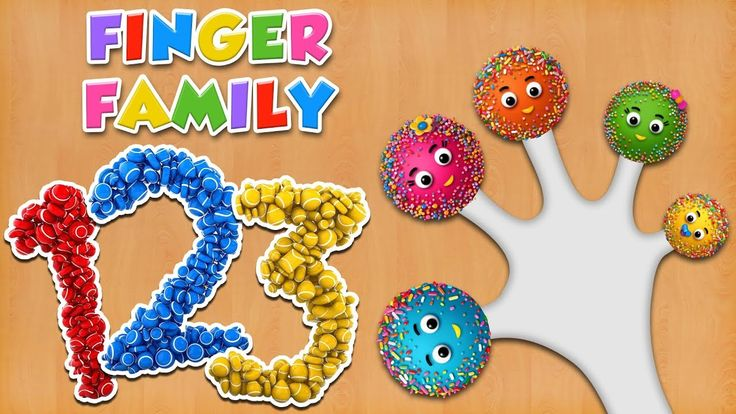 Learn Numbers with Cake Pop Finger Family Rhyme | Finger Family Songs