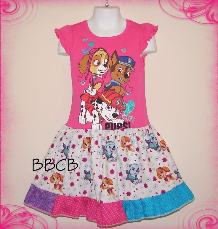 New PUPPY PAWS Rescue Shirt Dress - BBCB Handmade Upcycle 3 3T Dogs - Casual #Handmade #CasualParty