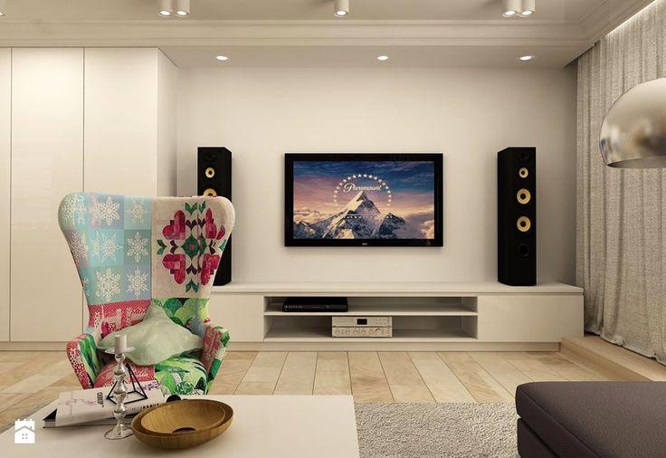 APARTAMENT NA GOCŁAWIU 120 m2 - Średni salon, styl eklektyczny - zdjęcie od design me too