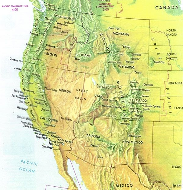 Western Us Mountain Ranges Map Map Of Us Mountain Ranges western us mountain ranges map 01 map us