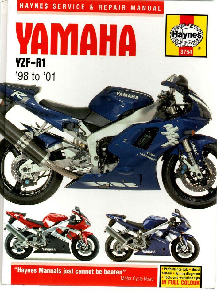 Haynes Yamaha Yzf R1 998cc 1998 To 2001 Europe Us Service Repair Manual 9781859607541 Ebay Repair Manuals Honda Cbr