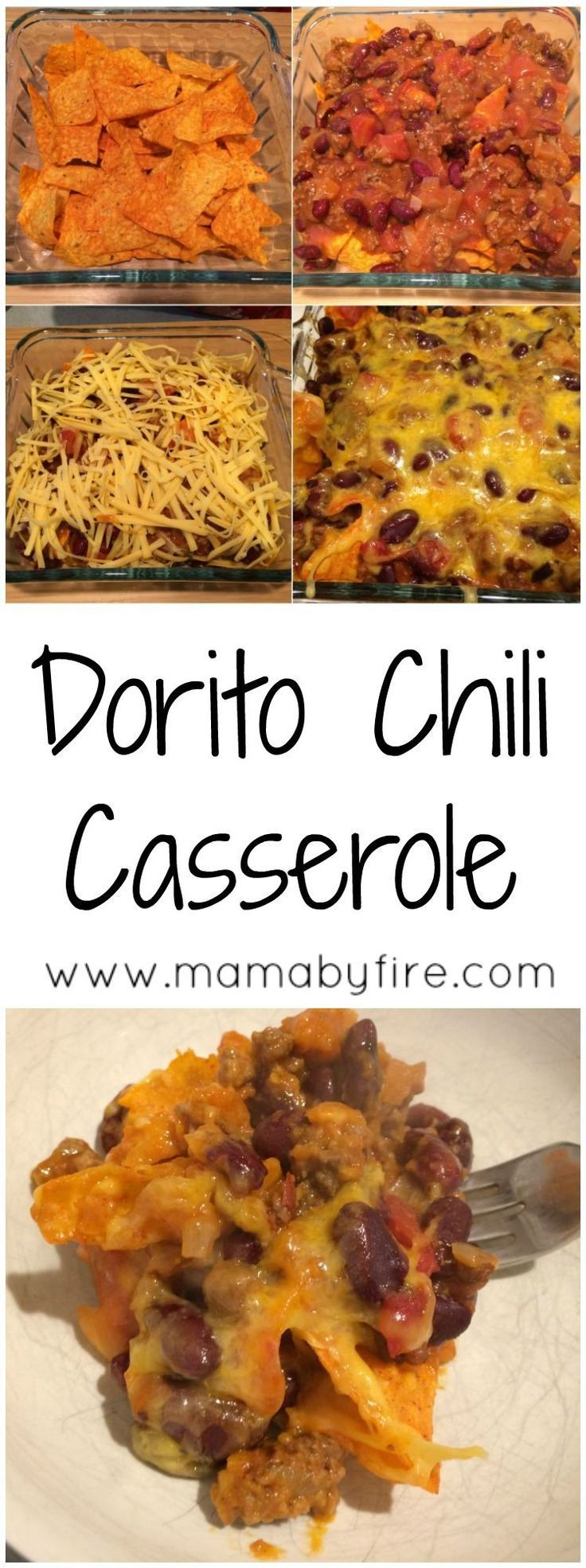 This Dorito Chili Casserole is a great dish for your next football party! It's super easy and delicious!