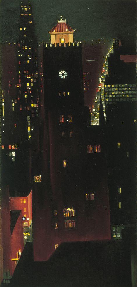 Georgia O'Keeffe, New York Night, Beverly Hotel on ArtStack #georgia-o-keeffe #art