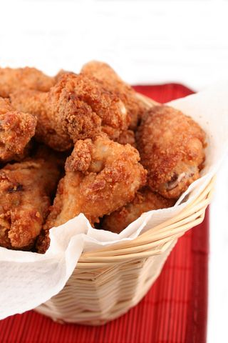 You will be surprised how much more flavor you can add to your chicken by soaking it in dressing before applying the coating and deep-frying...