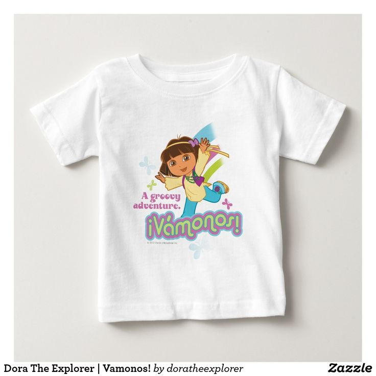 Dora The Explorer | Vamonos! T-Shirt. Producto disponible en tienda Zazzle. Vestuario, moda. Product available in Zazzle store. Fashion wardrobe. Regalos, Gifts. Trendy tshirt. #camiseta #tshirt