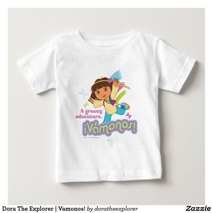 Dora The Explorer | Vamonos! T-Shirt. Producto disponible en tienda Zazzle. Vestuario, moda. Product available in Zazzle store. Fashion wardrobe. Regalos, Gifts. Trendy tshirt. #camiseta #tshirt