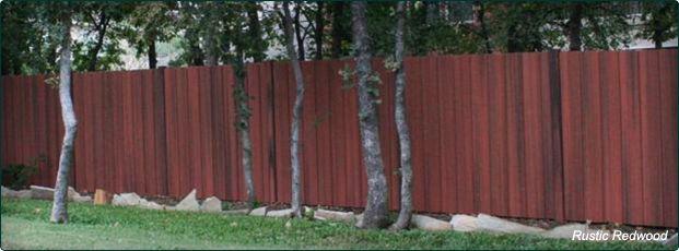 Woodshades Rustic Cedar Dog Ear Composite Fence